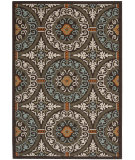 RugStudio presents Safavieh Veranda Ver055-723 Chocolate / Aqua Machine Woven, Good Quality Area Rug