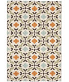 RugStudio presents Safavieh Veranda Ver080-712 Cream / Terracotta Machine Woven, Good Quality Area Rug