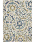 RugStudio presents Safavieh Veranda Ver091-614 Cream / Green Machine Woven, Good Quality Area Rug