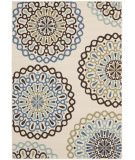 RugStudio presents Safavieh Veranda Ver092-615 Cream / Blue Machine Woven, Good Quality Area Rug