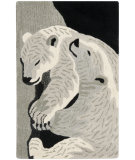 RugStudio presents Safavieh Wilderness WLD208A Black / Grey Hand-Tufted, Good Quality Area Rug