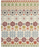 RugStudio presents Safavieh Wyndham WYD319A Ivory / Multi Hand-Tufted, Good Quality Area Rug