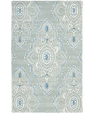 RugStudio presents Safavieh Wyndham Wyd372a Blue / Ivory Hand-Tufted, Better Quality Area Rug