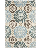 RugStudio presents Safavieh Wyndham Wyd376a Beige / Blue Hand-Tufted, Better Quality Area Rug