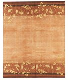RugStudio presents Samad Presidential Adams Terra-Cotta Hand-Knotted, Good Quality Area Rug