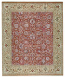 RugStudio presents Samad Sovereign Alexander Rosewood/Cream Hand-Knotted, Best Quality Area Rug