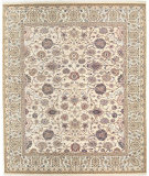 RugStudio presents Samad Cote D'Azur Alize Beige/Ivory Hand-Knotted, Best Quality Area Rug