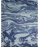 RugStudio presents Samad Plateau Azure Denim Blue Hand-Knotted, Good Quality Area Rug