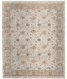 RugStudio presents Samad Cote D'Azur Beau Rivage Sterling/Pewter Hand-Knotted, Best Quality Area Rug