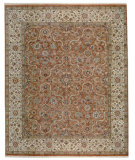 RugStudio presents Samad Cote D'Azur Beau Soleil Copper/Cream Hand-Knotted, Best Quality Area Rug