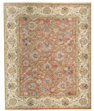 RugStudio presents Samad Sovereign Catherine Coral/Ivory Hand-Knotted, Best Quality Area Rug