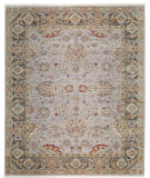 RugStudio presents Samad Sovereign Charlemagne Wedgewood/Pewter Hand-Knotted, Best Quality Area Rug