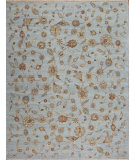 RugStudio presents Samad Sovereign Charles Baby Blue/Ivory Hand-Knotted, Best Quality Area Rug