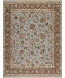 RugStudio presents Samad Sovereign Elizabeth Baby Blue/Mushroom Hand-Knotted, Best Quality Area Rug
