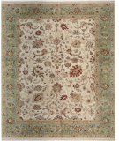 RugStudio presents Samad Sovereign Elizabeth ivory/seafoam Hand-Knotted, Best Quality Area Rug
