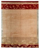 RugStudio presents Samad Presidential Filmore Fawn Hand-Knotted, Good Quality Area Rug