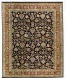 RugStudio presents Samad Cote D'Azur Grimaldi black/mahogany Hand-Knotted, Best Quality Area Rug
