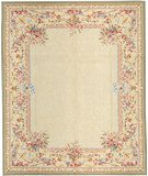 RugStudio presents Samad Highland Needleworks Mackay Ivory Needlepoint Area Rug