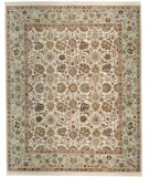 RugStudio presents Samad Cote D'Azur Menton ivory/spearmint Hand-Knotted, Best Quality Area Rug
