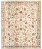 RugStudio presents Samad Cote D'Azur Monte Carlo Beige/Sterling Hand-Knotted, Best Quality Area Rug