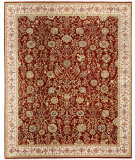 RugStudio presents Samad Cote D'Azur Monte Carlo Red/Beige Hand-Knotted, Best Quality Area Rug