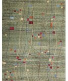RugStudio presents Samad Plateau Moon Cave Light Green Hand-Knotted, Good Quality Area Rug