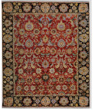 RugStudio presents Samad Sovereign Nikolai Red/Black Hand-Knotted, Best Quality Area Rug