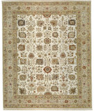 RugStudio presents Samad Cote D'Azur Palais Ivory/Beige Hand-Knotted, Best Quality Area Rug