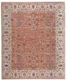 RugStudio presents Samad Sovereign Palatine Soft Rose/Ivory Hand-Knotted, Best Quality Area Rug