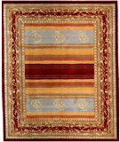 RugStudio presents Samad Presidential Polk Multi Hand-Knotted, Good Quality Area Rug