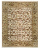 RugStudio presents Samad Cote D'Azur Promenade ivory/light gold Hand-Knotted, Best Quality Area Rug
