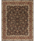 RugStudio presents Samad Cote D'Azur Renoir Chocolate/Rosewood Hand-Knotted, Best Quality Area Rug