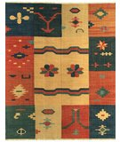 RugStudio presents Samad Sunrise Riverbend Flat-Woven Area Rug