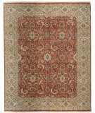 RugStudio presents Samad Cote D'Azur Riviera cinnamon/cream Hand-Knotted, Best Quality Area Rug