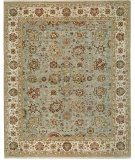 RugStudio presents Samad Sovereign Sofia Aqua/Ivory Hand-Knotted, Best Quality Area Rug