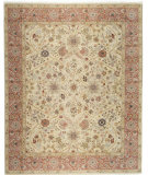RugStudio presents Samad Cote D'Azur St. Raphael Beige/Dusty Rose Hand-Knotted, Best Quality Area Rug