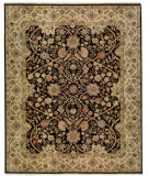 RugStudio presents Samad Cote D'Azur St. Raphael Black/Sand Hand-Knotted, Best Quality Area Rug