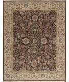 RugStudio presents Samad Cote D'Azur St. Raphael Chocolate/Sand Hand-Knotted, Best Quality Area Rug