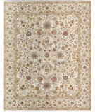 RugStudio presents Samad Cote D'Azur St. Raphael Ivory/Ivory Hand-Knotted, Best Quality Area Rug