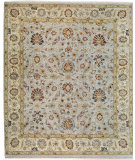 RugStudio presents Samad Sovereign Tara Baby Blue/Ivory Hand-Knotted, Best Quality Area Rug