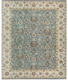 RugStudio presents Samad Sovereign Tara wedgewood/ivory Hand-Knotted, Best Quality Area Rug
