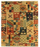 RugStudio presents Samad Sunrise Tequila Flat-Woven Area Rug