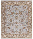 RugStudio presents Samad Cote D'Azur Toulon Baby Blue/Ivory Hand-Knotted, Best Quality Area Rug