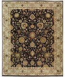 RugStudio presents Samad Cote D'Azur Toulon black/sand Hand-Knotted, Best Quality Area Rug