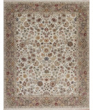 RugStudio presents Samad Cote D'Azur Valberg ivory/mushroom Hand-Knotted, Best Quality Area Rug