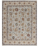 RugStudio presents Samad Cote D'Azur Valbonne Baby Blue/Ivory Hand-Knotted, Best Quality Area Rug