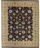 RugStudio presents Samad Cote D'Azur Valbonne black/gold Hand-Knotted, Best Quality Area Rug