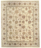 RugStudio presents Samad Cote D'Azur Valbonne Cream/Ivory Hand-Knotted, Best Quality Area Rug