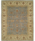 RugStudio presents Rugstudio Sample Sale 107653R Blue/Beige Hand-Knotted, Best Quality Area Rug