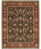 RugStudio presents Shalom Brothers Royal Zeigler Rzm-Sl6 Black/Red Hand-Knotted, Best Quality Area Rug